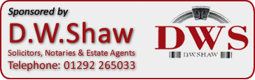 Sponsored by D.W. Shaw, Solicitors, Ayr